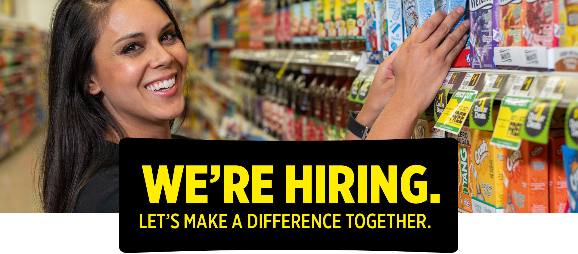 We're hiring. Let's make a difference together.